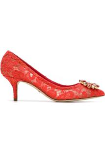 Dolce & Gabbana Scarpin 'Bellucci' De Couro - Vermelho