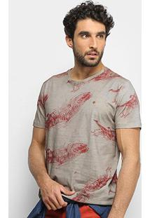 Camiseta Forum Estonada Fish Masculina - Masculino-Marrom