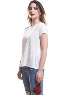 Camiseta Peplum Levis - Feminino-Branco