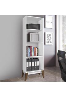 Estante Para Livros Com 4 Nichos 0811 Branco - Genialflex