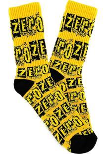 Meia Zero Full Zero Amarelo