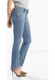 1b8c29195 ... Calça Jeans 714 Straight Jeans Levis - Feminino-Azul