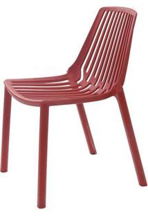 Cadeira Morgana Polipropileno Cor Vermelho Telha - 29781 - Sun House