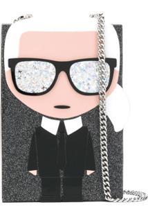 Karl Lagerfeld Clutch ' K/Ikonik Karl Minaudiere' - Preto