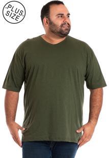 Camiseta Konciny Decote V Musgo