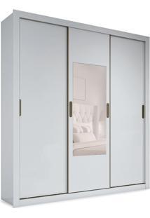 Guarda-Roupa Casal Com Espelho Vitória 3 Pt 3 Gv Branco