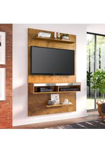 Painel Para Tv Até 50 Polegadas Valência Canelato Rústico