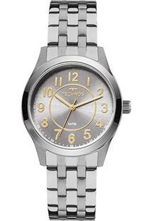 Relógio Technos Analógico 2035Mje/3C Feminino - Feminino-Prata