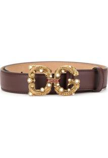 Dolce & Gabbana Cinto Com Logo 'Dg Amore' - Roxo
