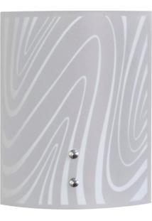 Arandela Calha Curvas Branco