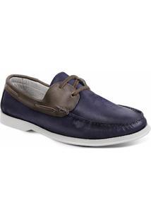 Sapato Masculino Dockside Sandro Moscoloni New Ibiza Azul/Marrom