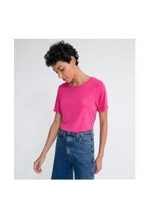 Blusa Em Modal Com Manga Curta Sem Estampa
