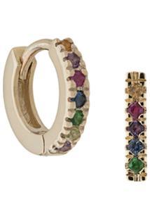 Otiumberg Brinco De Ouro 9Kt Com Pedras Coloridas - Multicolour