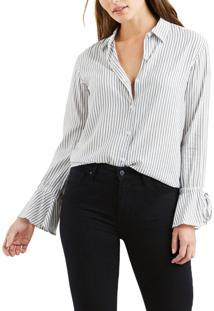 Camisa Levis Feminina Elsie Tie Sleeve Listrada Listra