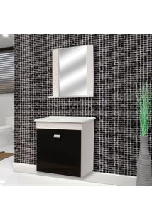 Conjunto De Banheiro Reggio Branco E Preto