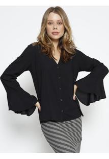 Camisa Lisa Com Tag - Preta - Colccicolcci