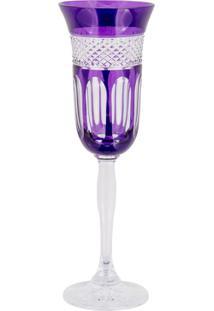 Taça De Cristal Lodz Para Champanhe Ii De 150 Ml - Purple