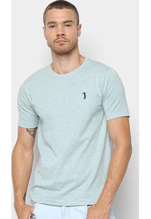 Camiseta Aleatory Básica Masculina - Masculino-Verde Claro