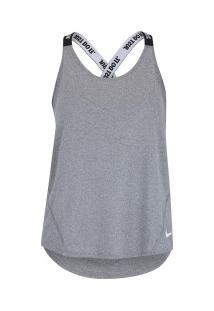07017c1d44 ... Camiseta Regata Nike Dry Elastka Tank - Feminina - Cinza Escuro