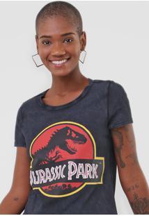 Camiseta Malwee Jurassic Park Preta