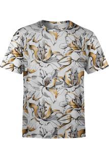 Camiseta Estampada Over Fame Lírios Dourados