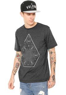 Camiseta Volcom Space Time Preta
