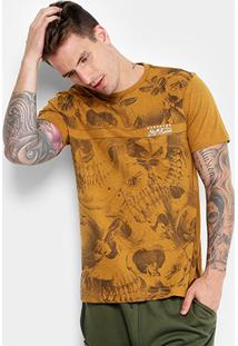 Camiseta Gangster Estampada Caveiras Masculina - Masculino