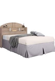 Cabeceira Casal Box Formatta 1,40 Cedro Robel