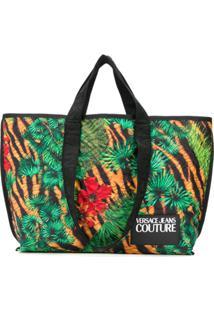 Versace Jeans Couture Bolsa Tote Com Estampa De Selva - Verde