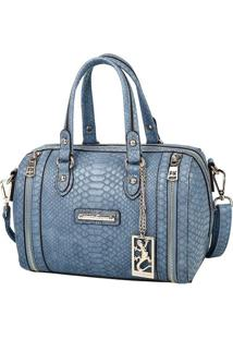 Bolsa Transversal Croco - Azul Marinho - 24X26X12,5Cfellipe Krein