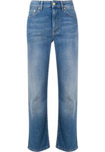 Filippa K Calça Jeans Stella Cropped Com Cintura Alta - Azul