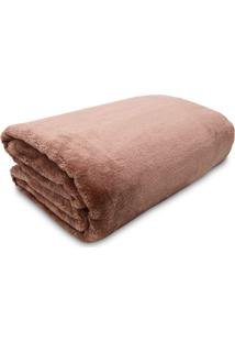 Cobertor Casal Jolitex Kyor Plus Liso Bege