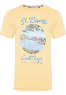 Camiseta Masculina Great Scape - Amarelo