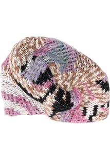 Missoni Contrast Knitted Hat - Rosa