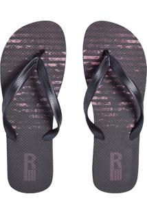 Chinelo Ride Skateboard Stripes Preto