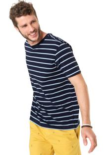 Camiseta Richards Listras Azul
