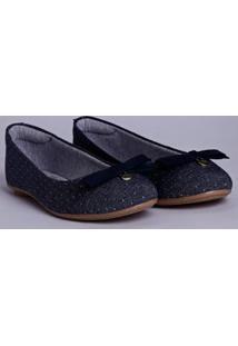 Sapatilha Jeans Moleca Eco Feminina Azul Marinho