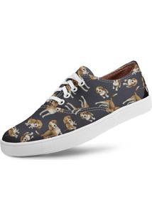 Tênis Usthemp Volare Vegano Dog Beagle Azul Marinho