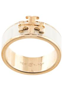 Tory Burch Kira Logo Ring - Branco