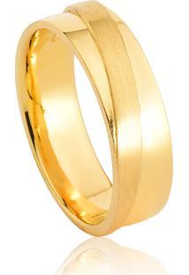 Aliança De Casamento Em Ouro 18K 6,5Mm