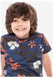 Camiseta Tropical Azul Niños 500008