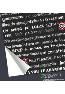 Outlet - Papel De Parede Corinthians Dizeres Black 0,58 X 2,50 Metros