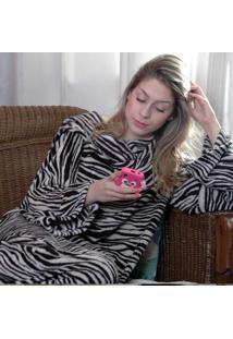 Cobertor Com Mangas Zebra - Zona Criativa