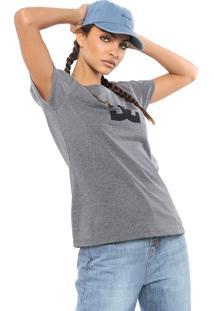 Camiseta Dc Shoes Logo Cinza