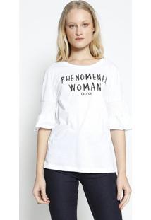 Blusa ''Phenomenal Woman'' - Branca & Preta - Colccicolcci