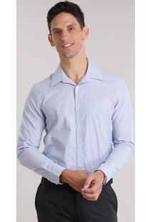 Camisa Comfort Listrada Azul