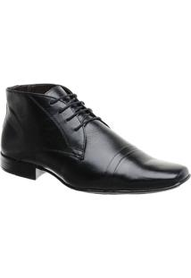 Sapato Social Masculina Malbork Couro Solado Borracha 9030 - Masculino