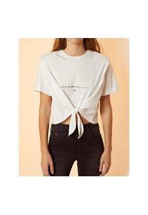 Camiseta Forum Com Ombreiras E Amarração Branca