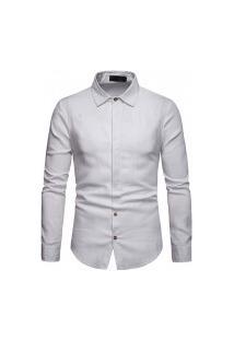 Camisa Masculina Munique Slim Fit - Branca