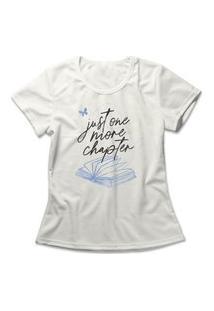 Camiseta Feminina One More Chapter Off-White